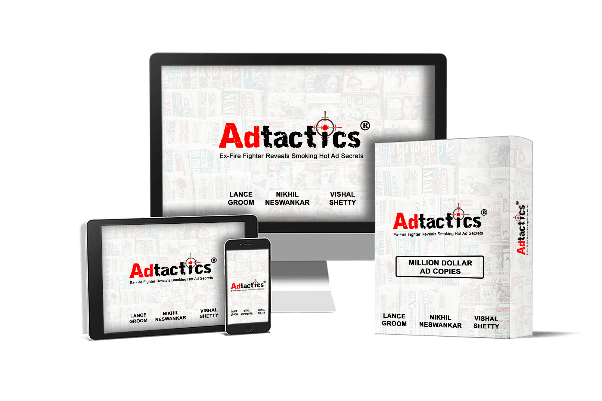 "Adtactics® (FE) + Lance's Top 1,000+ Newspapers in The Country (OTO1) + 50 Done-For-You Ads (OTO2) + 3-Weeks Bootcamp ""Placing Ads"" Training (OTO3)"